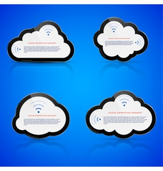 Electronic clouds vector image vector image