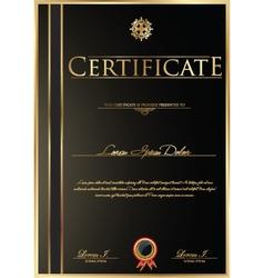 Elegant Certificate template vector image vector image