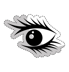 eye human sign isolated icon vector image vector image