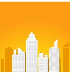 Flat of business city urban landscape vector image