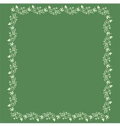 frame floral background vector image vector image