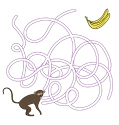 Game labyrinth find a way vervet ape vector