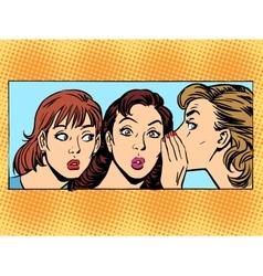 Gossip woman girlfriend vector