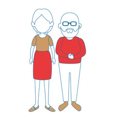 Grandparents couple icon vector
