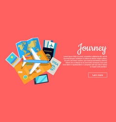 Journey conceptual flat style web banner vector