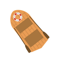 Lifeboat with oars icon image vector