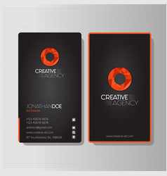Modern creative agency business card vector