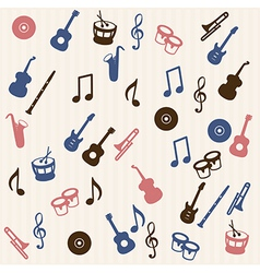 Music elements seamless pattern vector image vector image