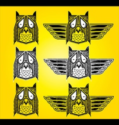Ornamental ethnic indian style owl vector