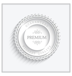 Paper badge vector image vector image