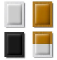 Paper sachet packaging vector