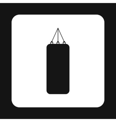 Punching bag for boxing icon simple style vector image vector image
