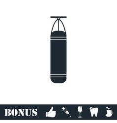 Punching bag icon flat vector image vector image
