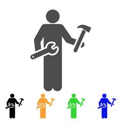 Serviceman icon vector