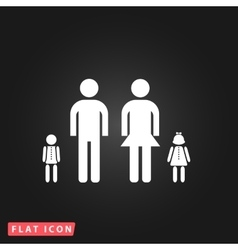 Simple family icon vector