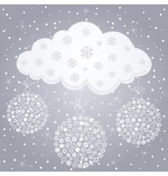 snow cloud vector image vector image