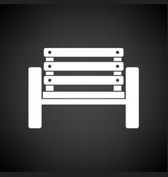 Tennis player bench icon vector