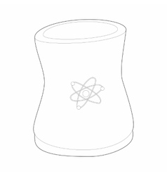 Cylinder for storage of substances icon vector