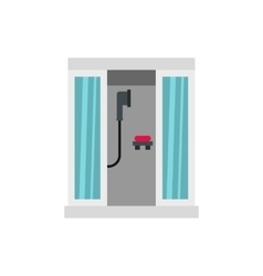 Shower cabin icon flat style vector