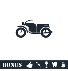 Motorcycle icon flat vector