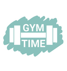 Gym time logo gym time logo vector