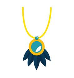Necklace beautiful isolated icon vector