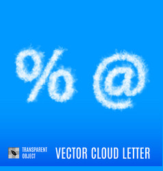 Cloud signs vector