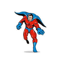 Super Hero Running Pointing Retro vector image