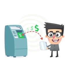 Theft money using modern technology vector