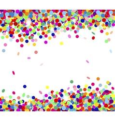 Multicolored confetti vector