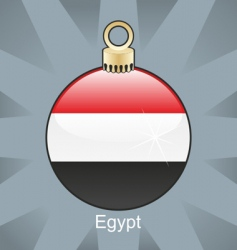 Egypt flag on bulb vector image