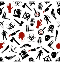 Zombie seamless pattern vector