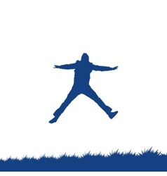 Man jumping vector