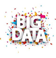 Paper big data sign vector