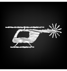 Helicopter sign scribble effect vector