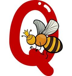 Q for queen bee vector image