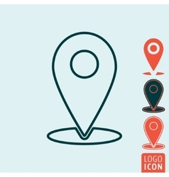 Marker location icon isolated vector