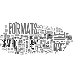 A quick lesson in graphic file formats text word vector