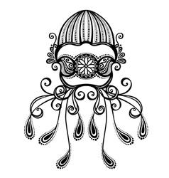 Abstract sea jellyfish vector