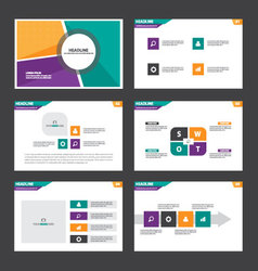 Colorful presentation templates infographics set vector