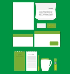 Corporate stationary template vector