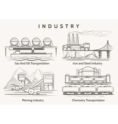 Factory industrial landscape vector image vector image