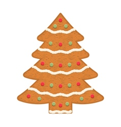 Gingerbread Christmas Tree vector image vector image