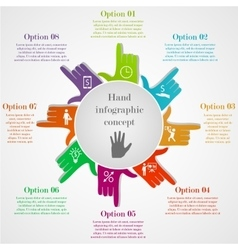 Hand-style infographic concept vector image vector image