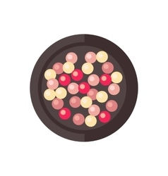 Makeup compact face powder vector