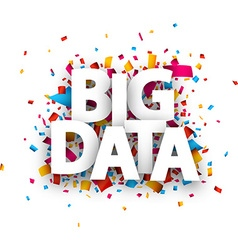 Paper big data sign vector image