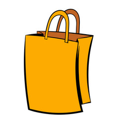 paper shopping bag icon icon cartoon vector image