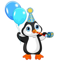 Penguin Birthday vector image
