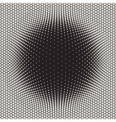Seamless halftone circles bloat pattern vector