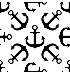 Seamless pattern of ships anchors vector image vector image